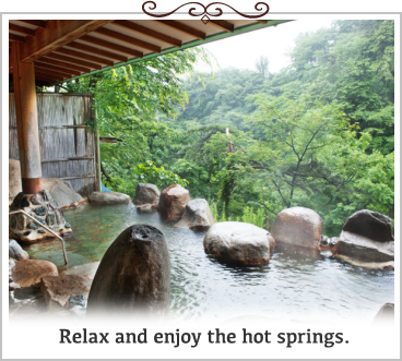 Relax and enjoy the hot springs.